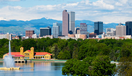 Denver Skyline for Golden Oak Lending