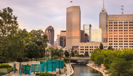 Indianapolis Skyline for Golden Oak Lending