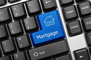 jumbo loans mortgage key on computer keyboard