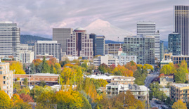 Portland Skyline for Golden Oak Lending