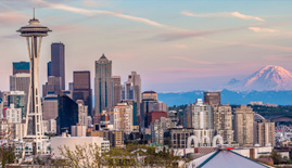 Seattle Skyline for Golden Oak Lending
